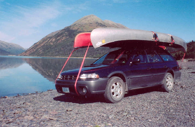 One car, two canoes